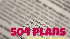 504 Plans for Food Allergies