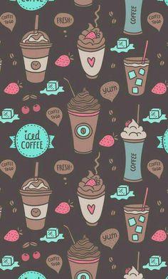Imagen de wallpaper, coffee, and background Wallpaper Free, Wallpaper For Your Phone, Kawaii Wallpaper, Tumblr Wallpaper, Mobile Wallpaper, Pattern Wallpaper, Wallpaper Quotes, Cute Backgrounds, Cute Wallpapers