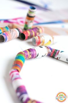 Make your own DIY jewelry out of old magazines!  Such a fun kids craft from Kids Activities Blog.