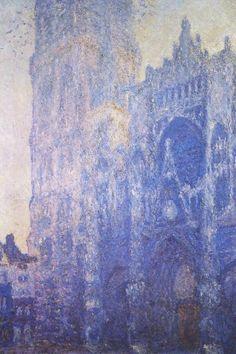 """Rouen Cathedral, The Portal and the Tour d Albane, Morning Effect"", Claude Monet 1893, oil on canvas 106 x 73 cm, Musée d Orsay, Paris France."