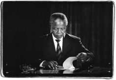 In the ANC commissioned South African photographer George Hallett to document the electoral process and first democratic government. During the year in which Hallett covered the electoral pro… Black Panther Pics, Emory Douglas, First Black President, Human Rights Activists, Black Presidents, Nobel Peace Prize, Freedom Fighters, Nelson Mandela, Memories
