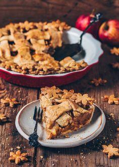 Gedeckter Apfelkuchen mit Gitter (Vegan American Apple Pie)