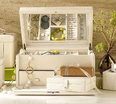 McKenna Leather Large Jewelry Box | Pottery Barn
