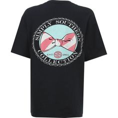 8357513f03a Simply Southern Women s Bowtie T-shirt (Navy