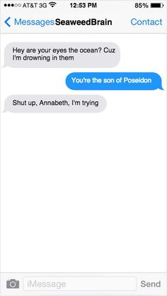 percy jackson and annabeth chase funny conversation Percy Jackson Memes, Percy Jackson Books, Percy Jackson Fandom, Percy Jackson Annabeth Chase, Tio Rick, Uncle Rick, Solangelo, Percabeth, Percy Et Annabeth