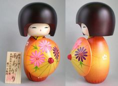 Kokeshi (こけし kokeshi. About Kokeshi Kokeshi have a simple trunk and an enlarged head with a few thin, painted lines to define the face. The body has their special hand-painted design, and covered with a layer of wax. ). | eBay!