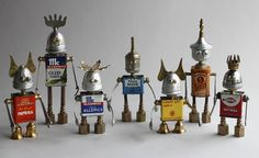Spicebots -- found object robot assemblage sculptures by brian marshall by adopt-a-bot, via Flickr