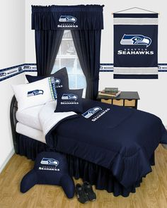 Seattle Seahawks Bedroom Decor #seattleseahawks #seahawks