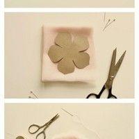handmade flower. Beautiful!