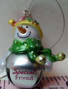 #SPECIALFRIEND Jingle Bell Snowman Ornament
