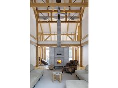 #Tulikivi #soapstone #fireplace #barn #wooden #beams #country #ranch