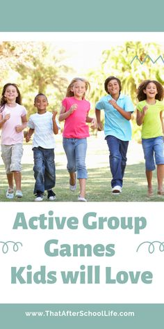 Gather the kids and get active. Here is a list of group games you can do with little or no prep. Strap on your gym shoes and get ready for a good time. These active group games for kids are bound to be a hit at your after school program or youth group. Indoor Group Games, Large Group Games, Group Games For Kids, Indoor Games For Kids, Games For Teens, Outdoor Games, Children Games, Icebreaker Games For Kids, Youth Games