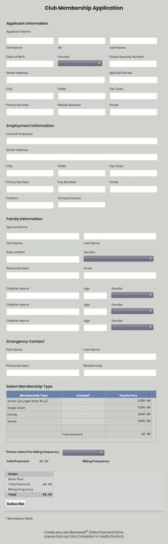 Job Application Form Print Only By Borneosoft Online Forms