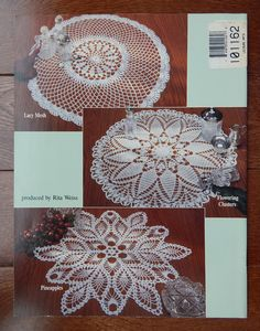Vintage crochet doily patterns by elizabeth hiddleson vol 5 round crochet doily patterns classic doilies by yalanda wiese 5 designs 125 21 inches round pineapple lotus and ferns fans lacy mesh dt1010fo