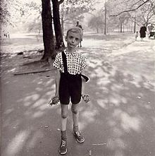 Diane Arbus was kinda creepy ... but strangely compelling all at the same time.