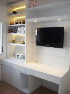 painel de tv com escritório - Pesquisa Google