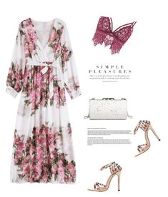 Floral maxi dress by stellina-from-the-italian-glam on Polyvore featuring polyvore fashion style clothing