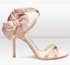 Jimmy Choo Silk Satin Sandal Blush Pink - Click Image to Close: