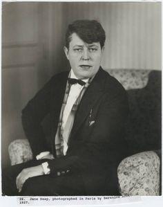 Jane Heap, photographed in Paris by Berenice Abbott, 1927