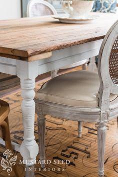 MMS table. Ironstone Milk Paint.