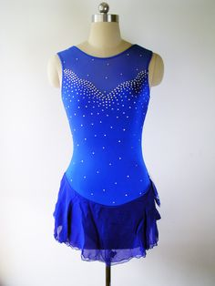 Custom Figure Skating Competition Dress -- 'Penelope'. $84.00, via Etsy.