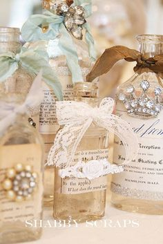 Photo Inspiration of the Day: Decorated Vintage Bottles To Use As ...