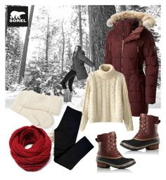 """Tame Winter with SOREL: Contest Entry"" by aazraa ❤ liked on Polyvore featuring SOREL, Chicnova Fashion, J Brand and sorelstyle"