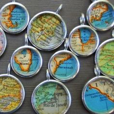 Vintage Map Necklace  You Pick City  by DaisyMaeDesignsShop, $30.00