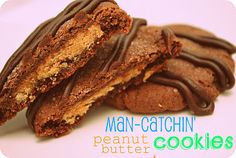 Man-Catchin' Peanut Butter Cookies, I already have a man, I guess I'll have to send a test batch to the station and then pass the recipe along to my single friends if it works :)