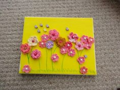 crochet flower art by by My Experiments with Needle n Thread