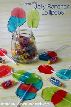 Homemade Jolly Rancher Lollipops   Recipe on HoosierHomemade.com