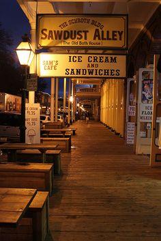 the shop signs in Old Sacramento Sacramento, California