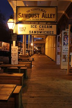 the shop signs in Old Sacramento Sacramento, California