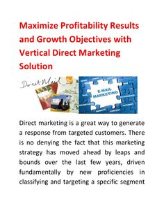 Direct Marketing is the best way to increase your business revenue and attract the customer. Vertical Direct Marketing group is one of the best doing company in direct Marketing. Mail Marketing, Direct Marketing, Business Goals, No Response, Group