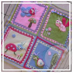 Creative Crochet Toys: My Garden Bug Blanket - Part Five: Putting The Squares Together