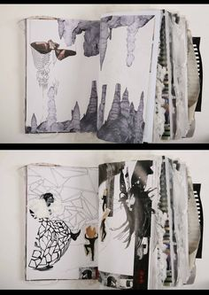 Fashion Sketchbooks, Artist Study with thanks to Ania Leike for Art School Students, CAPI Create Art Portfolio Ideas