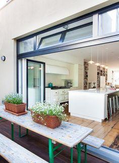 Cobble Hill Row house - transitional - Deck - New York - Bonaventura Architect