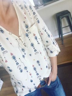 .I love the cut and flow of this blouse