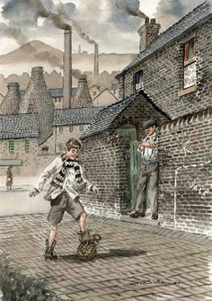 Sid zKirkham Children Games, Games For Kids, Old Pottery, Stoke On Trent, Warehouses, Factories, Winter Scenes, Art Lessons, Kids Playing