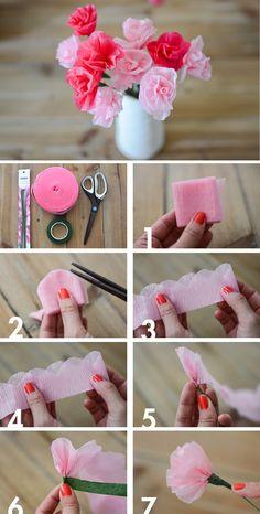 Để làm bình hoa giấy đẹp bạn sẽ cần chút tỉ mỉ và kiên nhẫn đấy!