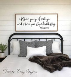ideas for bedroom wall decor. Framed sign where you go I will bedroom wall decor BEDROOM WALL DECOR  master for couples