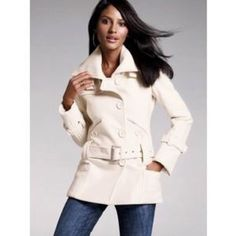 🎉HOST PICK🎉Nordstroms Winter White Coat Beautiful and elegant coat. Excellent condition. Used once for a couple hours. One missing button and one loose. Cute and versatile. More pics upon request. Not by Michael kors Michael Kors Jackets & Coats Pea Coats