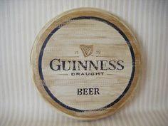 Letrero Retro de cerveza Guinness Beer, en madera.