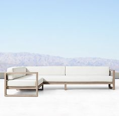 Aegean Teak Luxe Left-Arm L-Sectional Outdoor Cover, Outdoor Lounge, Indoor Outdoor Rugs, Outdoor Seating, Outdoor Spaces, Outdoor Decor, Plywood Furniture, Furniture Sets, Furniture Design