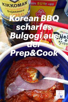Daeji Bulgogi ist für die Fans der scharfen Küche genau richtig. Alles schnell in die Preppie, durchmixen und schon kann's losgehen! Krups Prep Cook, Prep & Cook, Bulgogi, Bbq, Meat, Recipes, Food, Marinate Meat, Korean Cuisine