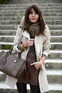 #coat #white #outfit #winter