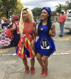 African traditional attire 2019 for black women – fashion ShweShwe 1 - Gifted. Pedi Traditional Attire, Traditional Fashion, Traditional Outfits, Modern Traditional, Traditional Wedding, African Fashion Designers, African Print Fashion, Africa Fashion, Women's Fashion