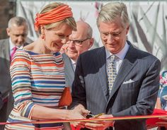 n April 21, 2016, King Philippe and Queen Mathilde of Belgium visit the 35th edition of the Floralien flower festival in Gent. This is the first time since 1985 that the Floralies are again held in Ghent. Japan is the guest country this year. The Floralies is held every four years.
