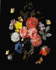 Otto Marseus van Schrieck (1619-1678) —  Flowers, 1669 : Palazzo Pitti, Florence. Italy  (645x800)