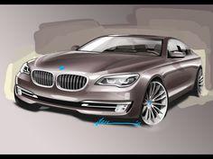 2012 BMW 7 Series - Design Sketch - 1920x1440 - Wallpaper